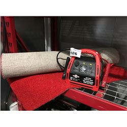 BATTERY BOOSTER PACK & RED INDOOR/OUTDOOR CARPET