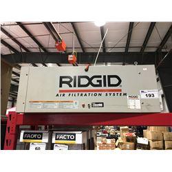 RIDGID AIR FILTRATION SYSTEM MODEL AF3000