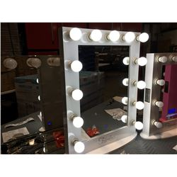 "FONTAINEBLEAU 13 LED LIGHT VANITY MAKEUP MIRROR - (WHITE) - 23.75"" X 31.5"" -  A"