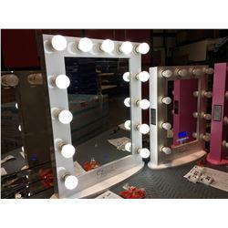 "FONTAINEBLEAU 13 LED LIGHT VANITY MAKEUP MIRROR - (WHITE) - 23.75"" X 31.5"" - C"