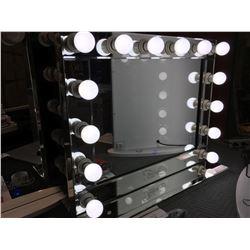 "FONTAINEBLEAU 14 LED LIGHT VANITY MAKEUP MIRROR - (BEVELED MIRROR FINISH)  -  31.5"" X 26""- C"