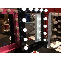 "FONTAINEBLEAU 13 LED LIGHT VANITY MAKEUP MIRROR  - BLACK - 23.75"" X 31.5"" -  A"