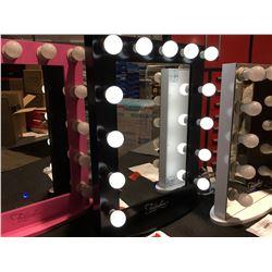 "FONTAINEBLEAU 13 LED LIGHT VANITY MAKEUP MIRROR  - BLACK - 23.75"" X 31.5 - B"