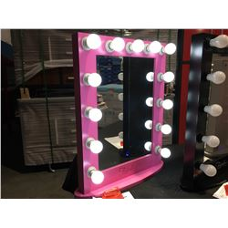 """FONTAINEBLEAU 13 LED LIGHT VANITY MAKEUP MIRROR  - PINK- 23.75"""" X 31.5 - A"""