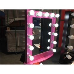"FONTAINEBLEAU 13 LED LIGHT VANITY MAKEUP MIRROR  - PINK - 23.75"" X 31.5 -  B"