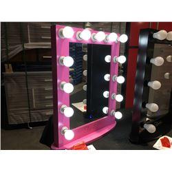 "FONTAINEBLEAU 13 LED LIGHT VANITY MAKEUP MIRROR  - PINK - 23.75"" X 31.5 - C"