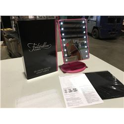 FONTAINEBLEAU LED LIGHTED DESKTOP VANITY MIRROR - ULTRA BRIGHT 16PCS LEDS, ADJUSTS 180 DEGREES  FOR