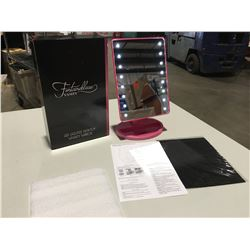 FONTAINEBLEAU LED LIGHTED DESKTOP VANITY MIRROR - ULTRA BRIGHT 16PCS LEDS, ADJUSTS 180 DEGREES  FOR