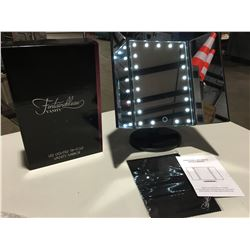 FONTAINEBLEAU LED LIGHTED TRI-FOLD VANITY MIRROR - ULTRA BRIGHT 21PCS LEDS, 3 PANELS PROVIDE