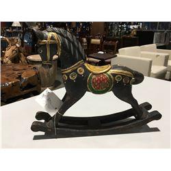 "ANTIQUE ORNAMENTAL ROCKING HORSE 13""H X 16""W"