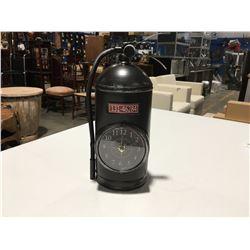"FIRE EXTINGUISHER CLOCK - 13.5"" HIGH"