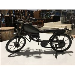 "METAL ORNAMENTAL EARLY MOTOR CYCLE - 13"" X 8"""