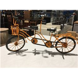 "METAL ORNAMENTAL EARLY BICYCLE BUILT FOR TWO 23"" X  11.5"""