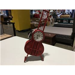 "ORNAMENTAL GUITAR CLOCK 20"" H"