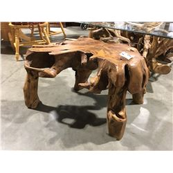 "BURL COFFEE TABLE (31"" W X 17.5"" H)"