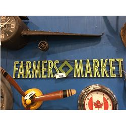 "CBK INSPIRED HOME METAL FARMERS MARKET SIGN (APPROX 75"" X 8.5"")"