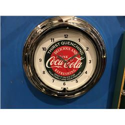 "COCA-COLA ILLUMINATED CLOCK - APPROX 14"" DIAMETER"