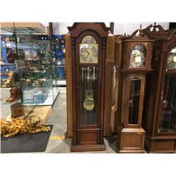 COLONIAL OF ZEELAND GRANDFATHER CLOCK - TRIPLE CHIME MOON DIAL - CHIMES NOT WORKING REQUIRES