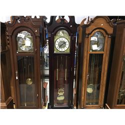 KEY WOUND SPRING-OPERATED CHINESE GRANDMOTHER CLOCK - TIME & STRIKE MOVEMENT WORKING
