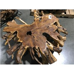 """SOLID TEAK ROOT COFFEE TABLE (41.5"""" X 18"""" H)"""