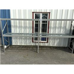 LIGHT INDUSTRIAL RACKING - 2 SECTIONS 6' X 6' X 2' (INCLUDES 3 UPRIGHTS, 8 6' BEAMS & 12 PCS WIRE