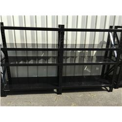 MAGNUM INDUSTRIAL RACKING - 2 SECTIONS 5' W X 6' H X 2' INCLUDES 3 UPRIGHTS, 16 BEAMS & 16 PCS
