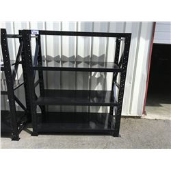 MAGNUM INDUSTRIAL RACKING - 1 SECTIONS 5' W X 6' H X 2' INCLUDES 2 UPRIGHTS, 8 BEAMS & 8 PCS