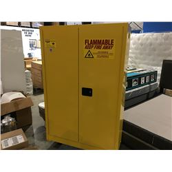 "EAGLE MODEL 1947 FLAMMABLE SAFETY STORAGE CABINET - YELLOW 43"" W X 66"" H X 18"""