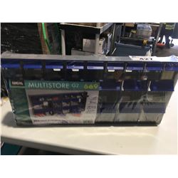 IDEAL STORAGE MULTISTORE G2 - 21 TILT-OUT CRYSTAL-CLEAR BINS - F