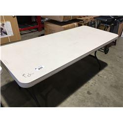"LIFETIME FOLDING TABLE 72"" X 30"""
