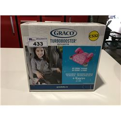 """GRACO TURBOBOOSTER YOUTH BOOSTER """"MY CROWN FASHION"""" 4-10YRS 40-100LBS"""
