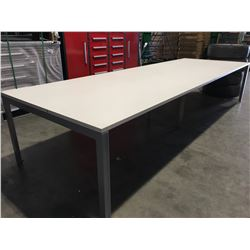 "HERMAN MILLER BOARDROOM TABLE - 144"" LONG X 48"" WIDE - NO CHAIRS"