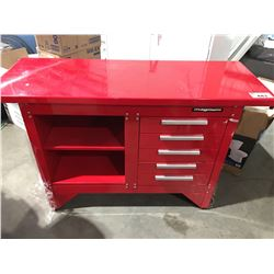 """MAGNUM HEAVY DUTY STEEL WORKBENCH WITH 5 SLIDING DRAWERS - 54"""" X 20"""""""
