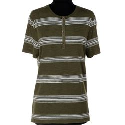 Mpho Koaho 'Ken' striped short-sleeve henleys and Seattle t-shirts from Dirk Gently's...
