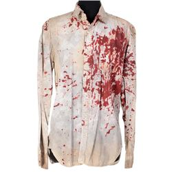 Fiona Dourif 'Bartine 'Bart' Curlish' blood stained button-down shirts from Dirk Gently's...