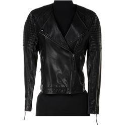 Jade Eshete 'Farah Black' quilted biker jacket from Dirk Gently's Holistic Detective Agency.
