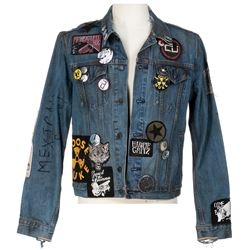 Elijah Wood 'Todd Brotzman' signature Mexican Funeral customized denim jacket from Dirk Gently's...
