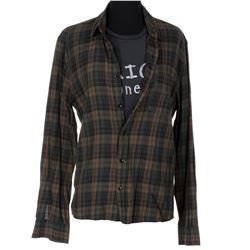 Elijah Wood 'Todd Brotzman' flannel shirts and Mexican Funeral t-shirt from Dirk Gently's...