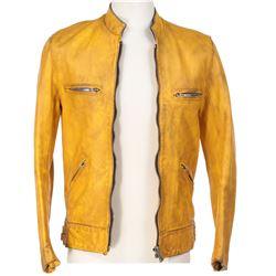 Samuel Barnett 'Dirk Gently' signature yellow leather jacket from Dirk Gently's...