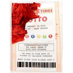 Elijah Wood 'Todd Brotzman' hero bloody winning lotto ticket from Dirk Gently's...