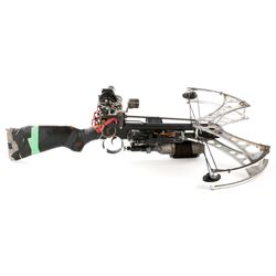 Steampunk taser SFX compound crossbow prop from Dirk Gently's Holistic Detective Agency.