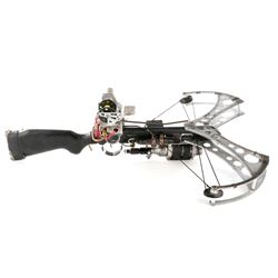 Steampunk taser compound crossbow prop from Dirk Gently's Holistic Detective Agency.