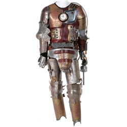 Julian McMahon 'Zachariah Webb/Patrick Spring' steam punk knight armor and pistol from Dirk Gently's