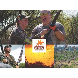 Argentina Duck and Perdiz Hunt for 3 people with Pointer Outfitters