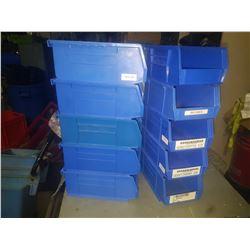 """Blue Plastic Bin 6"""" x 3""""1/4"""