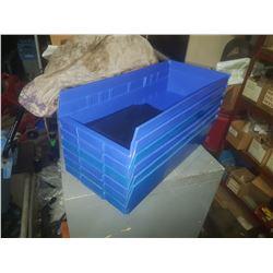 """Blue Plastic Bin 7""""1/2 x 16""""3/4 x 4"""""""