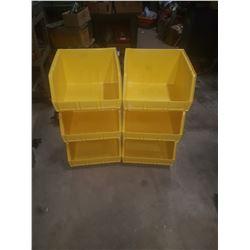 "Yellow Plastic Bin 14""3/4 x 17"" x 10""3/4 inside"