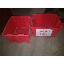 """Red Storage Plastic Bin 15""""3/4 x 19"""" x 12"""""""