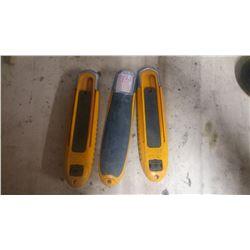 Lot de 3 couteaux auto-rétractable Olfa SK-8