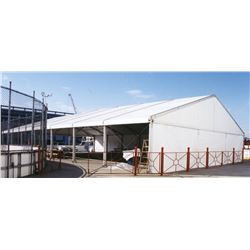 Structural Tent '50' x 30' in Aluminum (owner will explain how to instal with buyer / 1000$)